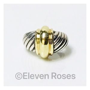 David Yurman Sterling & 14k Gold Dome Ring